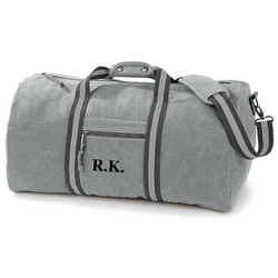 Personalised Grey  Weekend Bag - TreasurePersonalisedGifts