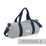Grey Personalised Gym Bag - TreasurePersonalisedGifts
