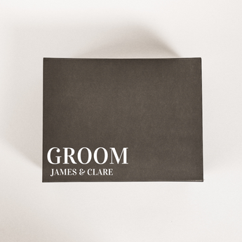 personalised groom gift box wedding gift box