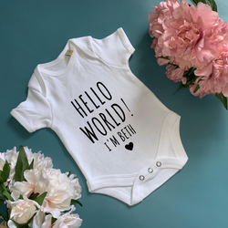 Hello World Baby Bodysuit - TreasurePersonalisedGifts