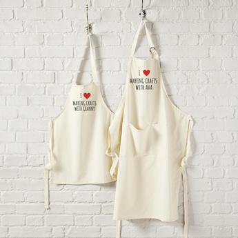 Matching Crafting Aprons - TreasurePersonalisedGifts