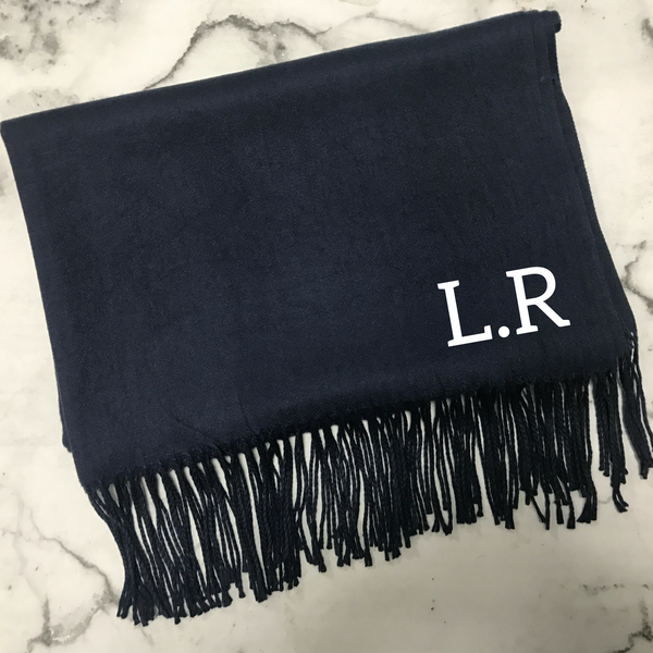 Personalised Navy Scarf - TreasurePersonalisedGifts