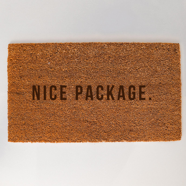Nice Package Doormat - Optional Personalisation