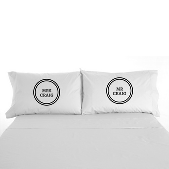 Personalised Mr & Mrs Pillowcases - TreasurePersonalisedGifts