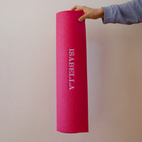 Personalised Yoga Mat - Pink