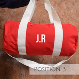 Red Personalised Gym Bag - TreasurePersonalisedGifts