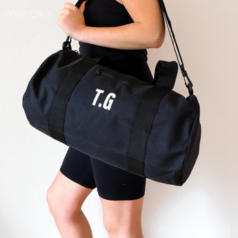 Black Personalised Gym Bag