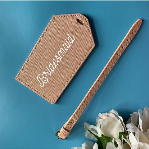 Personalised Bridesmaid Luggage Tag