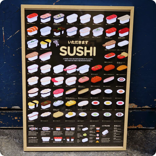 Poster, Affiche Food around the world - SUSHI