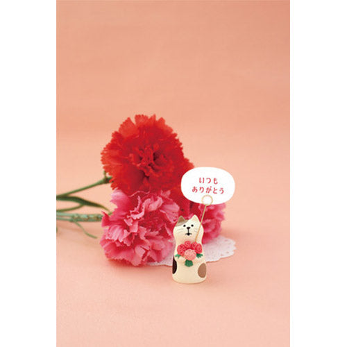 Mini Figurine Porte Photo - Chat Fleur