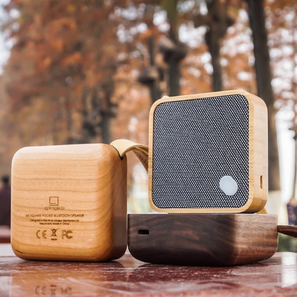 enceinte Mi-square portable, bluetooth, bois, design gingko, moshi moshi paris