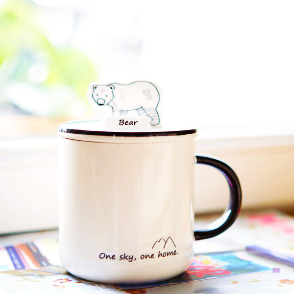 Tasse Kawaii Design, Support Portable - Ours | Moshi Moshi