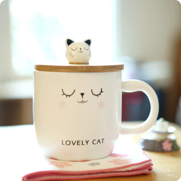 Tasse Kawaii Chat - Lovely Cat | Moshi Moshi Boutique Cadeau