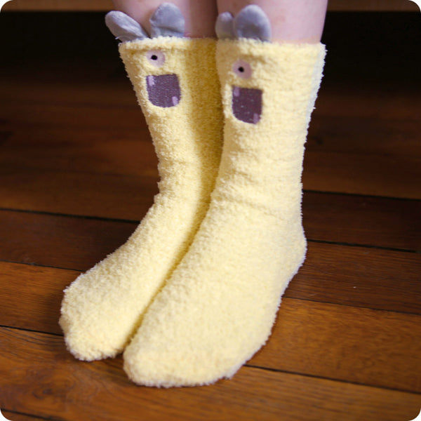CHAUSSETTE D'INTERIEUR MONSTER YELLOW