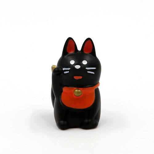 Mini Figurine - Chat Maneki Neko Noir