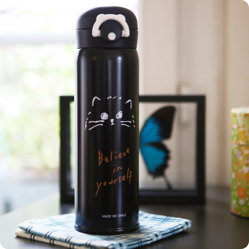 Thermos isotherme Kawaii - Chat Noir | Moshi Moshi Paris