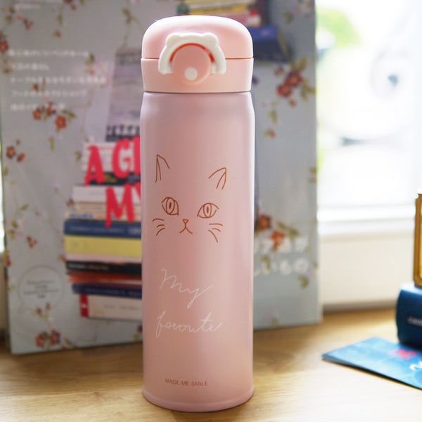 Thermos Kawaii Chat - Bec | Moshi Moshi Paris Japon
