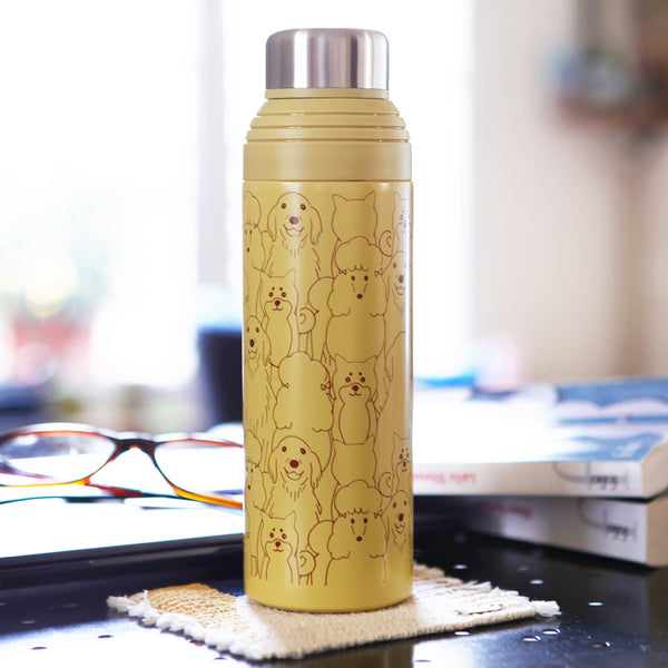 Thermos Isotherme Paille - Kawaii Chien | Moshi Moshi Paris
