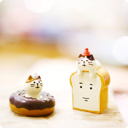 Mini Figurine - Chat Golden Toast