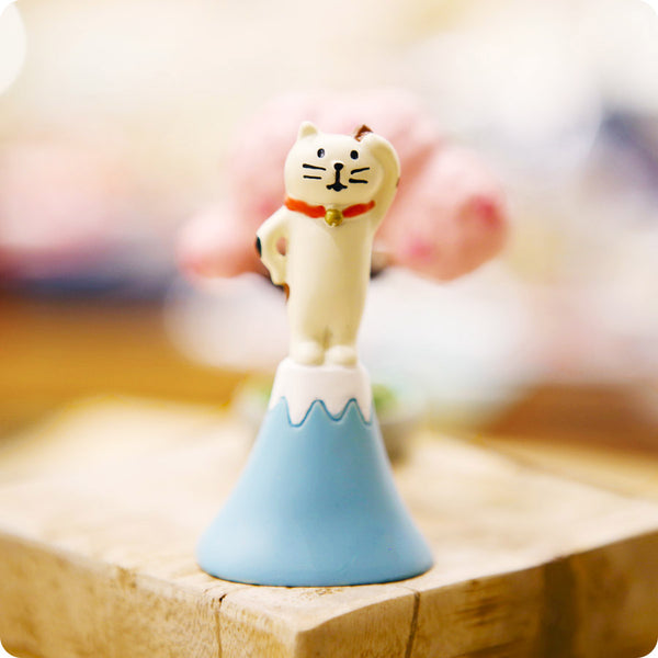 Mini Figurine - Chat Mont Fuji