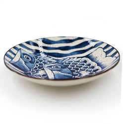 Assiette Japonaise - Poisson Vague | Moshi Moshi Paris