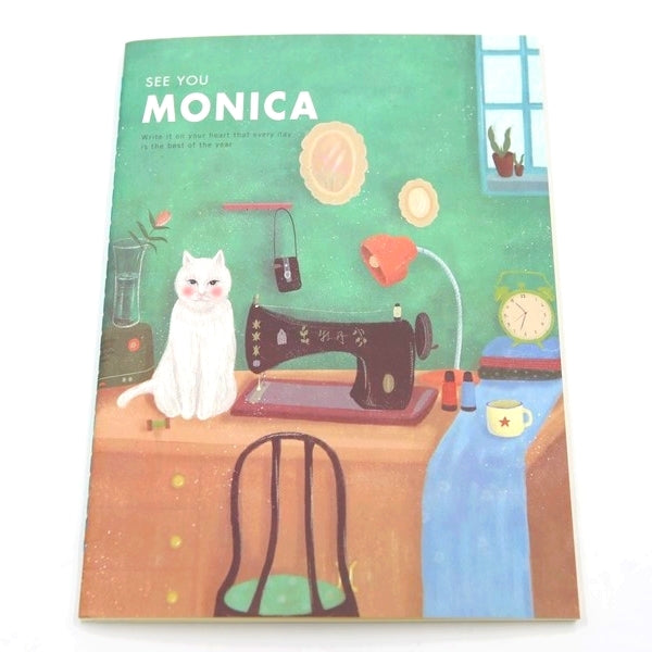 CAHIER CHAT MONICA AND COUTURE