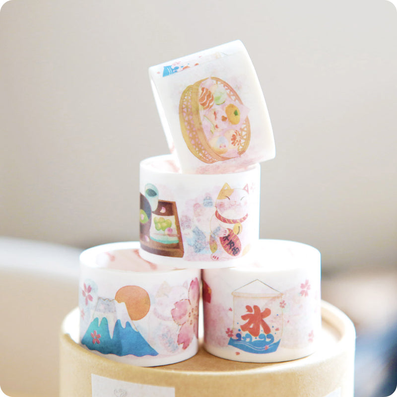Masking Tape Japan - Mont Fuji & Maneki neko