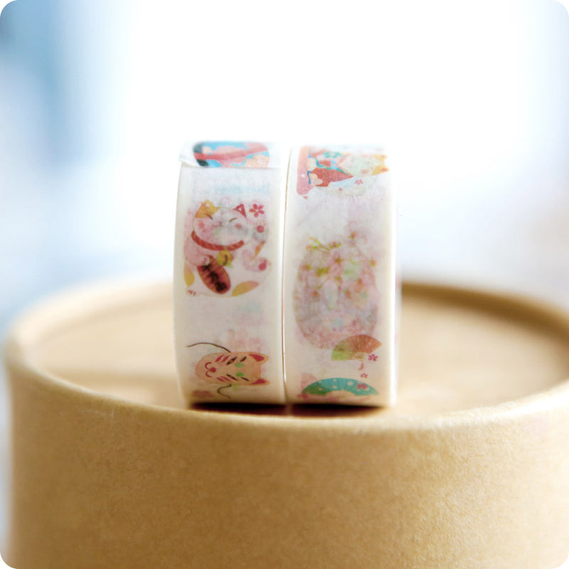 Washi Tape Japan - Koinobori, Maneki neko | Moshi Moshi