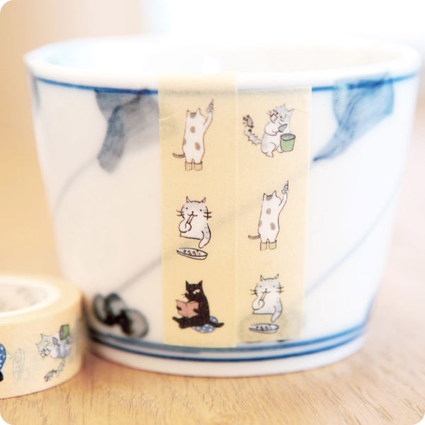 Masking Tape Chat Jaune - Kawaii | Moshi Moshi