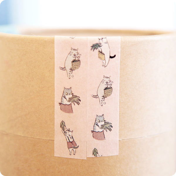 Masking Tape Chat Rigolo Rose - Moshi Moshi Paris