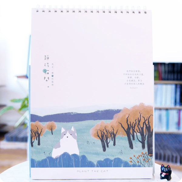 Sketchbook Kawaii Chat - Automne | Moshi Moshi Paris