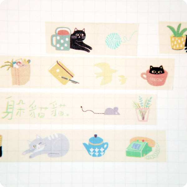 Masking Tape Kawaii, Chat | Moshi Moshi Paris Japan