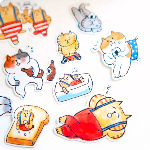 Stickers Kawaii Chat Goro - Japan | Moshi Moshi Paris