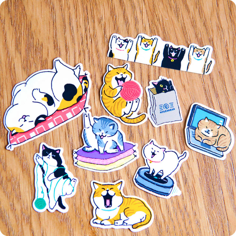 Stickers Chat Neko Kawaii - Japon| Moshi Moshi