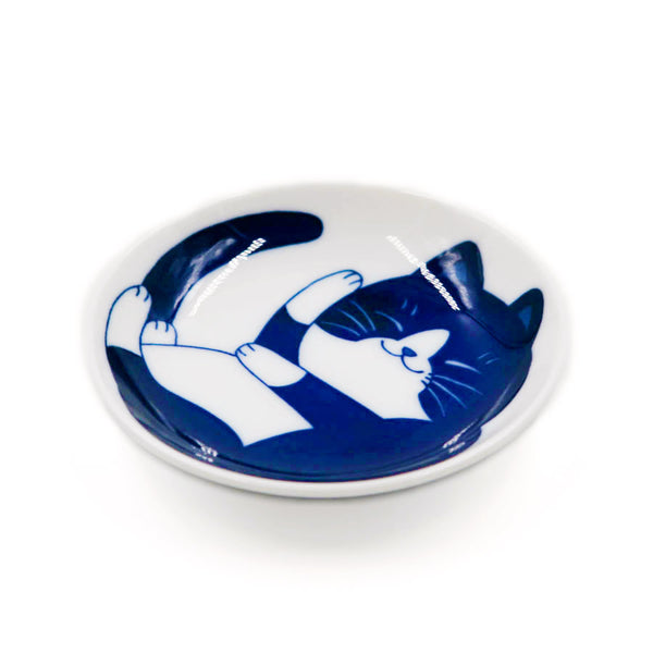 Coupelle Japonaise Chat Nekobura - Bleu | Moshi Moshi Paris
