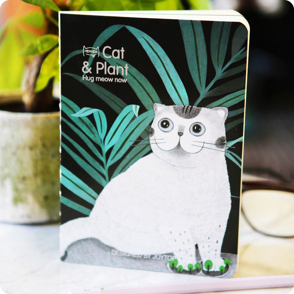 Carnet Kawaii Chat - Cat and Plant 02 -