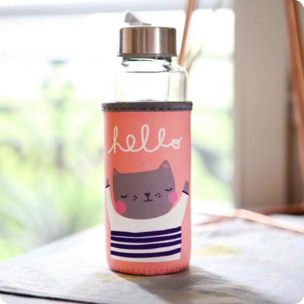 Gourde Bouteille Hello Chat - Kawaii et Ecologique | Moshi Moshi