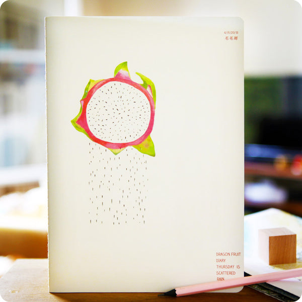 cahier kawaii - fruit du dragon