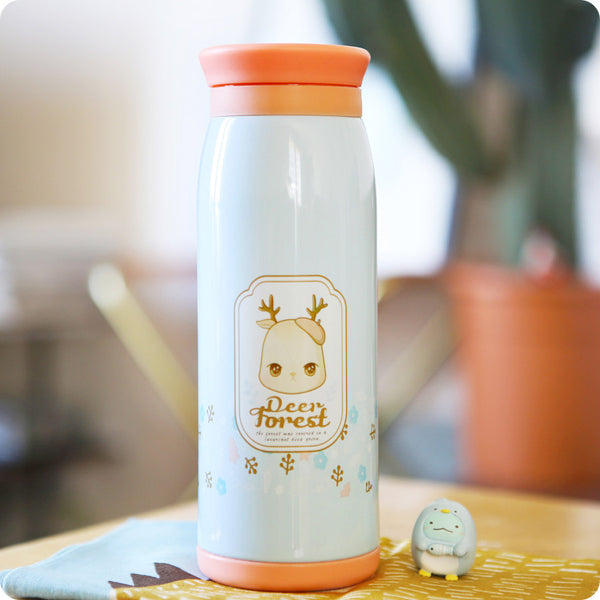 thermos kawaii - bouteille isotherme kawaii | Lapin - Cerf