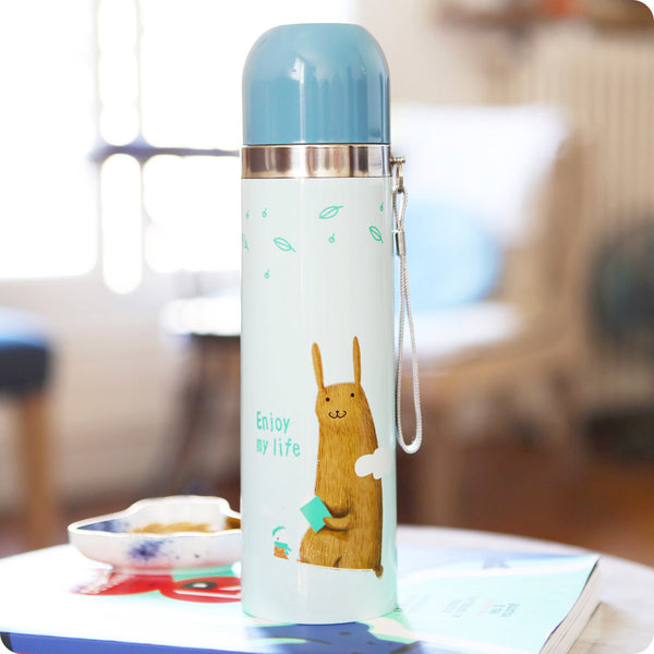 thermos kawaii animaux - lapin ours