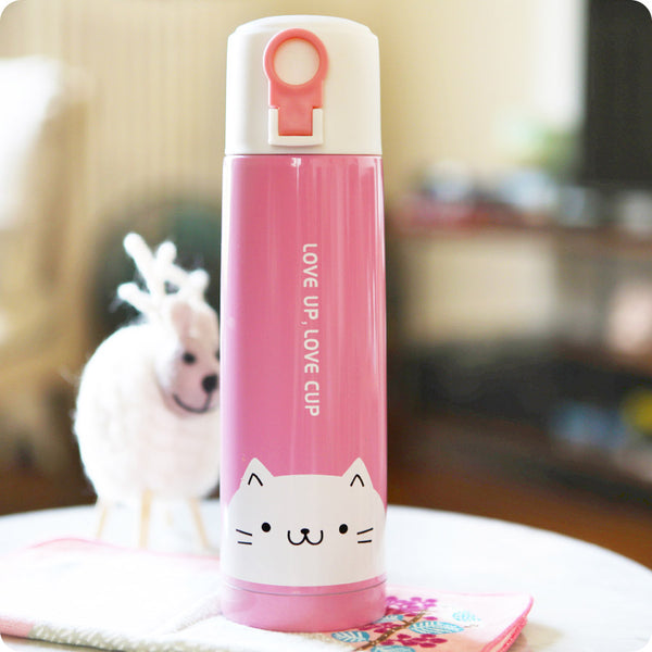 bouteille isotherme kawaii CHAT - isotherme kawaii animaux CHAT