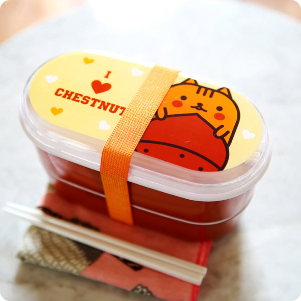 Bento box kawaii - Ecureuil - noisette | Lunch Box