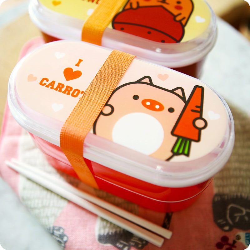Bento box Kawaii Hanata Cochon Carotte - Lunch box kawaii