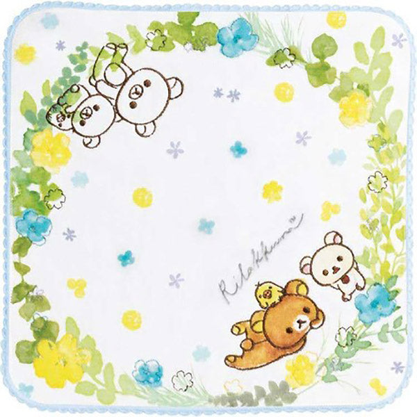 Serviette Rilakkuma Flower - Sanrio | Moshi Moshi Boutique Paris