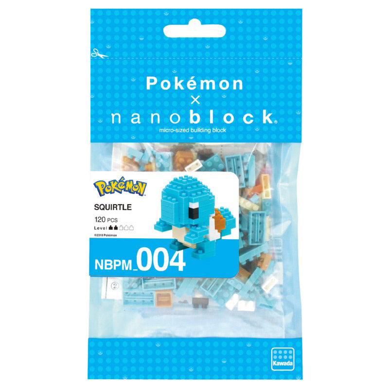 Nanoblock Carapuce Pokemon - Construction lego | Moshi Moshi Paris