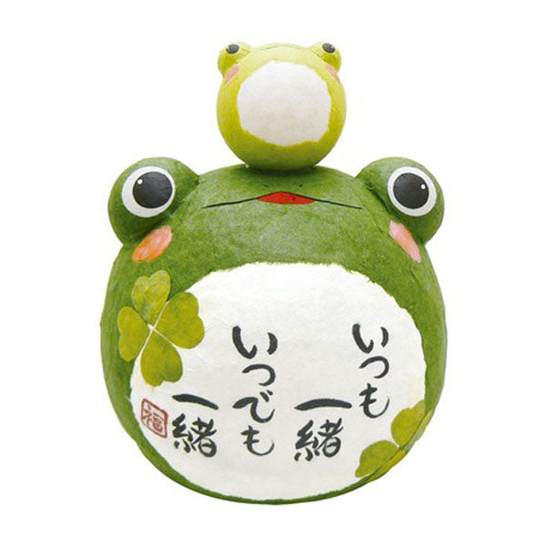 Figurine Grenouille XL Duo - Kawaii Papier Maché | Moshi Moshi