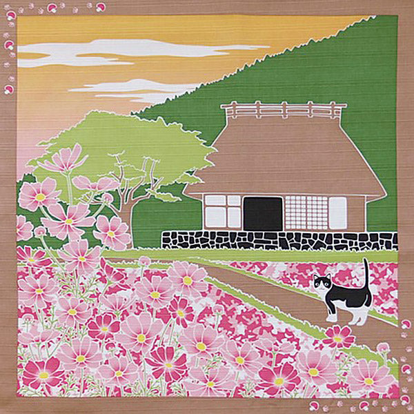 Furoshiki Chat Sakura - Emballage Bento Box | Moshi Moshi Paris