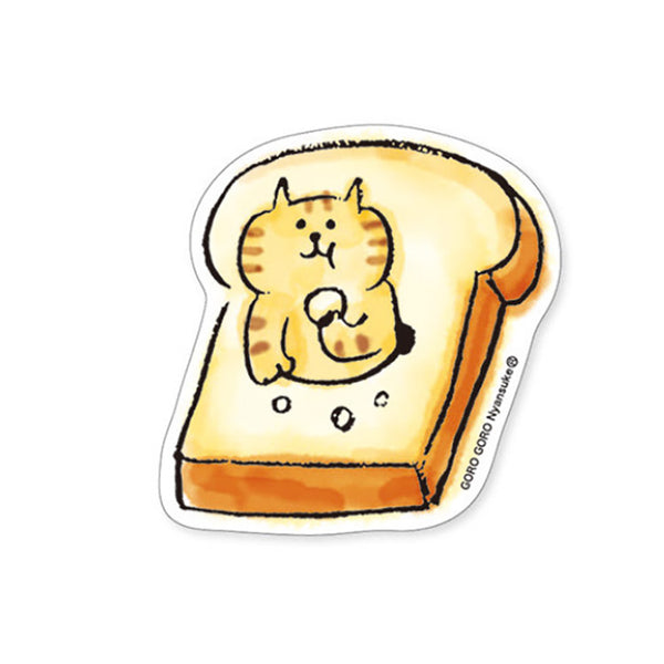 Stickers Chat Gorogoro Kawaii - Toast | Moshi Moshi Paris Japon