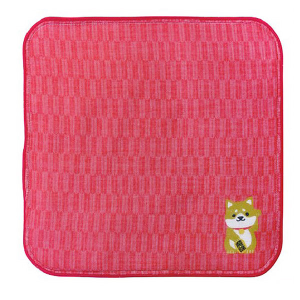 Serviette Shiba Rouge - Made in Japan | Moshi Moshi Paris