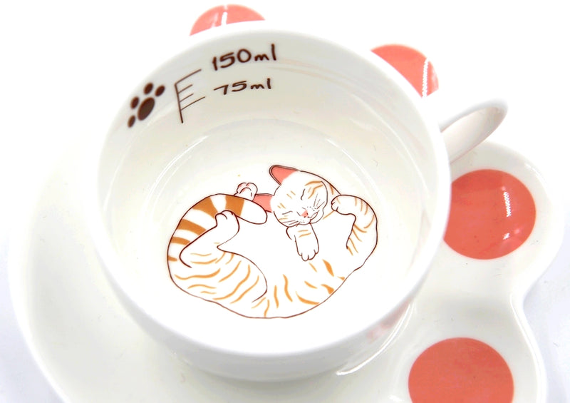 Tasse Soucoupe Chat, Sleeping Cat - Kawaii Design | Moshi Moshi